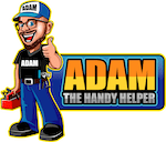 adam the handy helper logo, salem handyman services