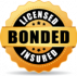 licensed bonded and insured icon